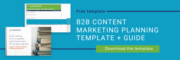 B2B content marketing plan template + guide 2-1