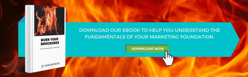 Burn you brochures - Website CTA