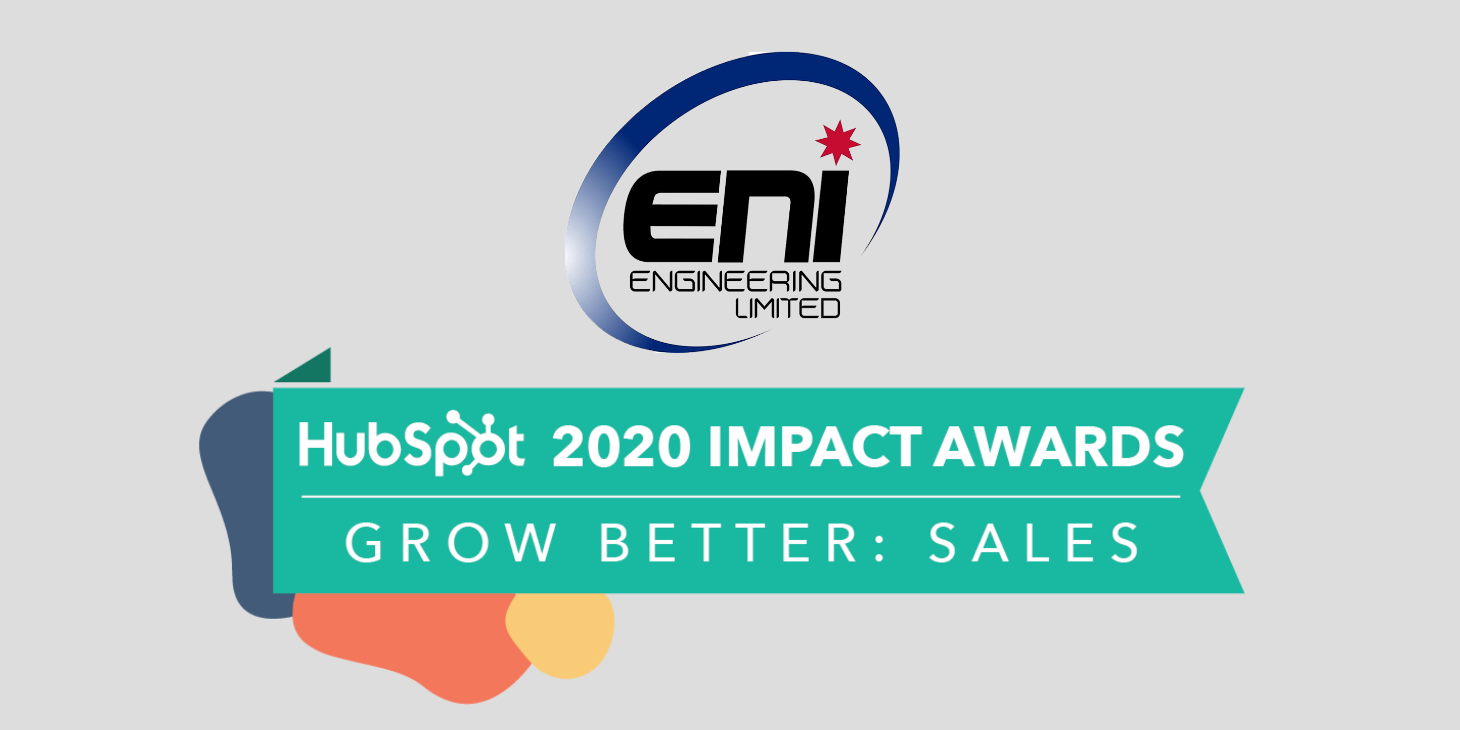 Concentrate & ENI Engineering HubSpot Impact Award - Grow Better Sales 2020