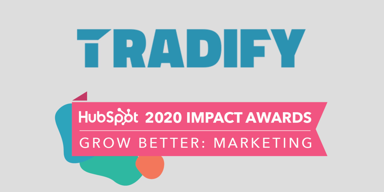 Concentrate & Tradify HubSpot Impact Award - Grow Better Marketing 2020