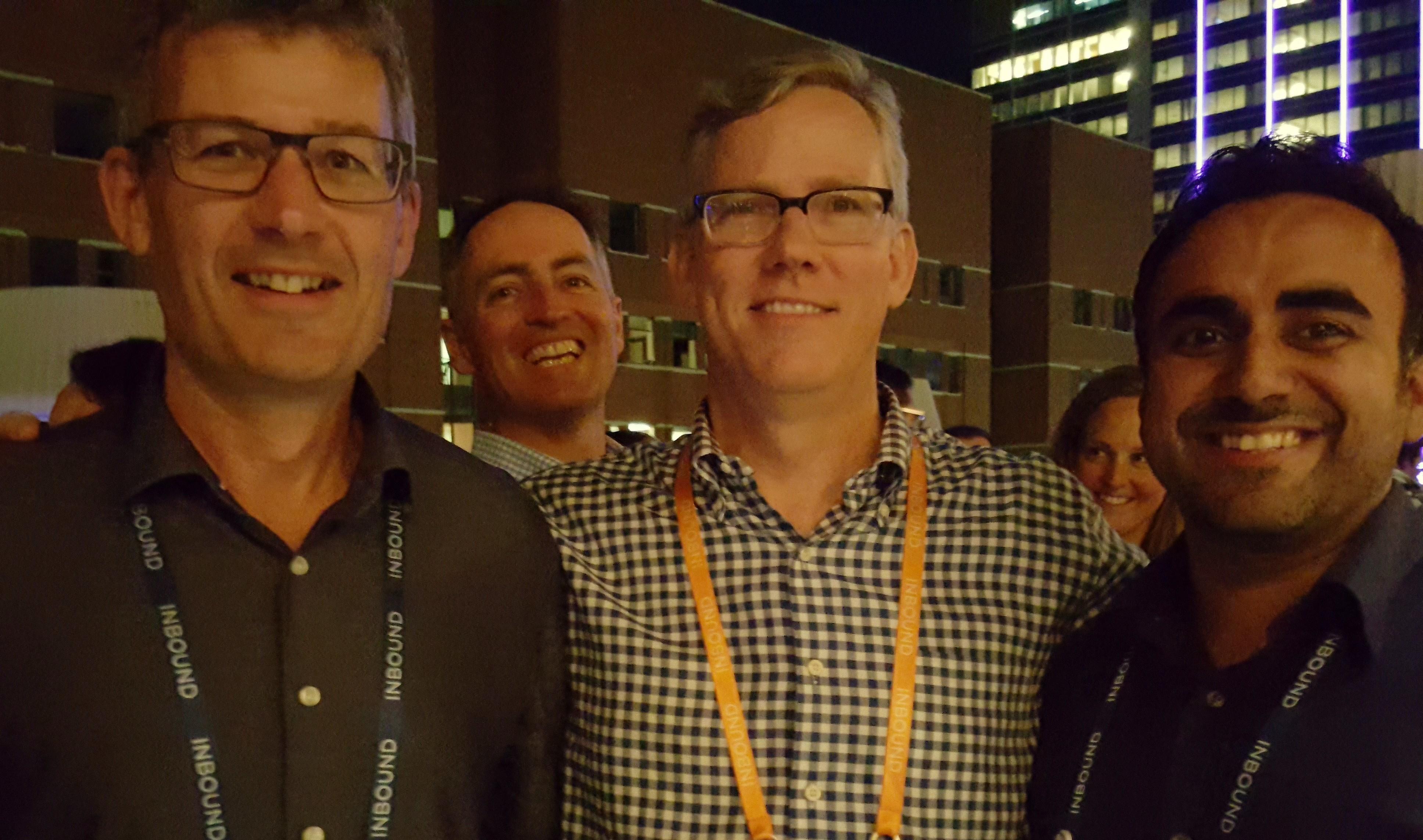 Owen Scott, Concentrate Managing Director; Brian Halligan, HubSpot CEO; Achan Bedi, Head of Inbound Marketing at Concentrate