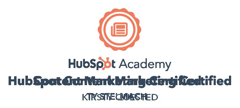 Kirstys Inbound Certification