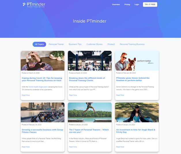 PTminder Results - Inside PTminder