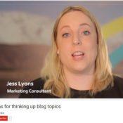 Three ideas for thinking up blog topics